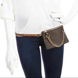Michael Kors Pull Chain Signature Belt Bag